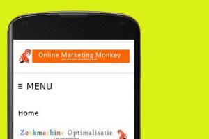 Mobiele versie van de website