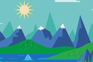 Achtergrond bergen