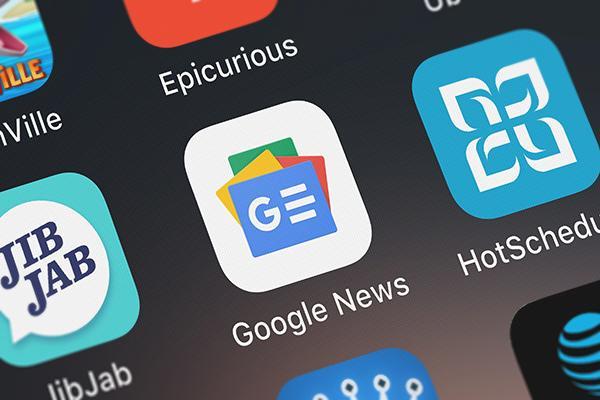 Google News app uitgelichte afbeelding