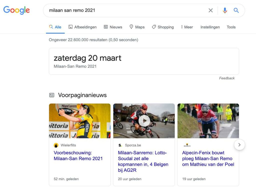 Google page experience en AMP